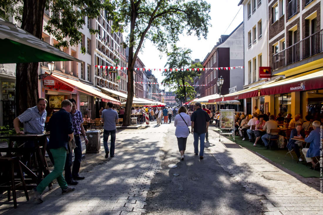 центральные улицы Дюссельдорфа