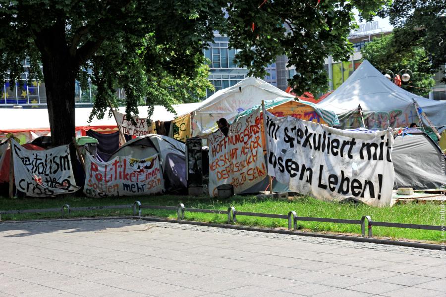 палаточный лагерь в Франкфурт-на-Майне