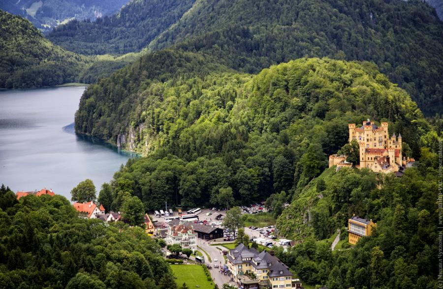 Замок Хоэншвангау и озеро Альпзее