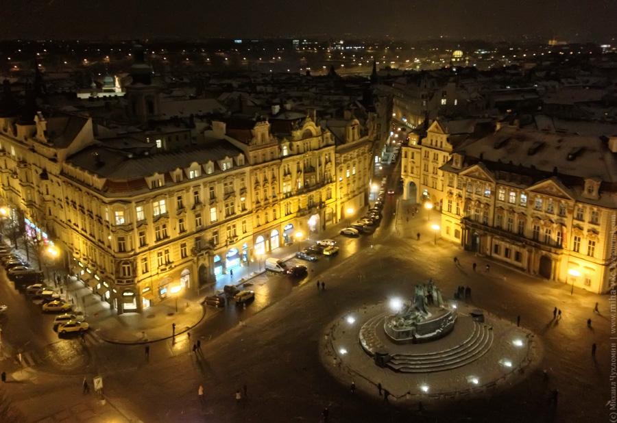 Староместская площадь и пямятник Яну Гусу