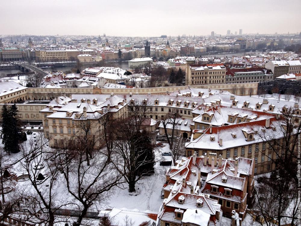 Вид на Прагу с Градчаны