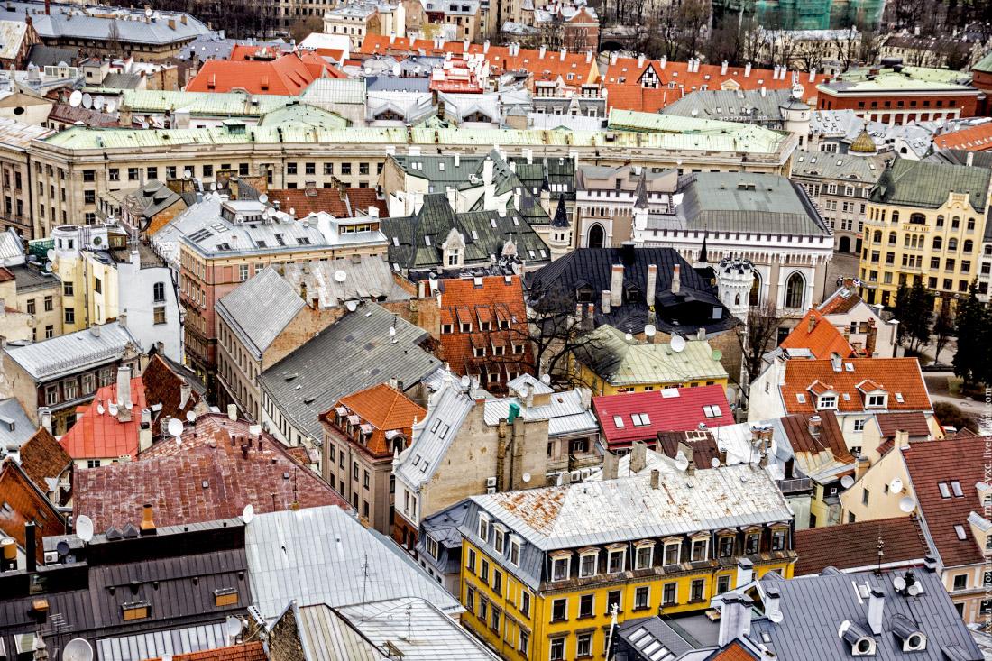 Крыши домов Старой Риги