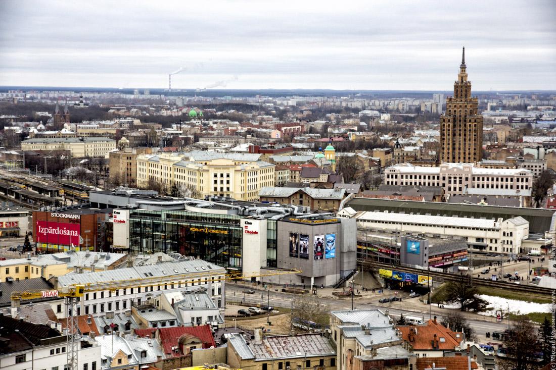Районе ЖД вокзала Риги
