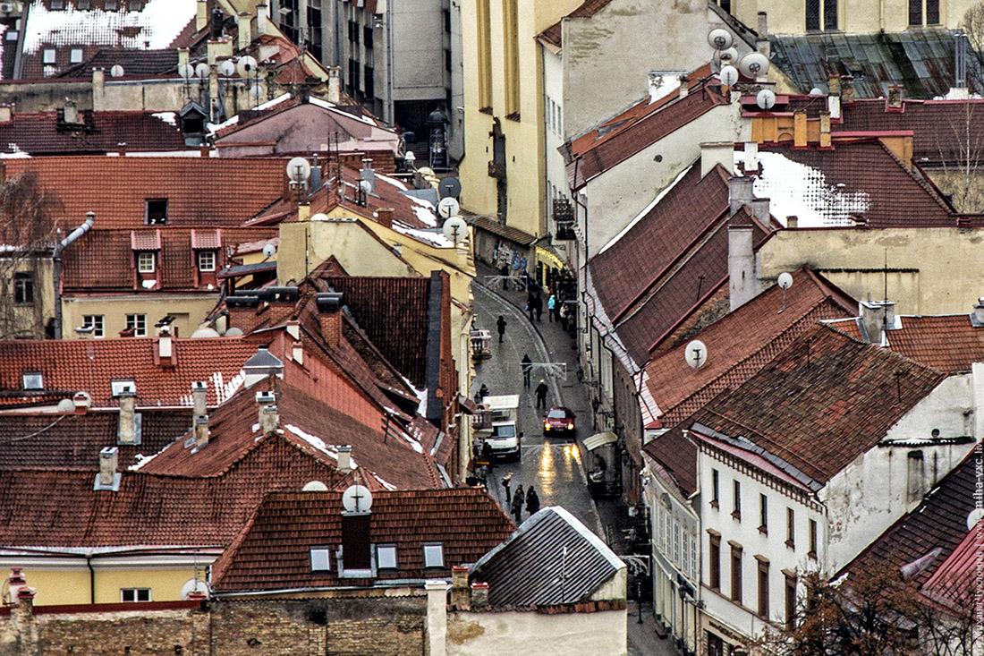 Улочки и крыши Вильнюса