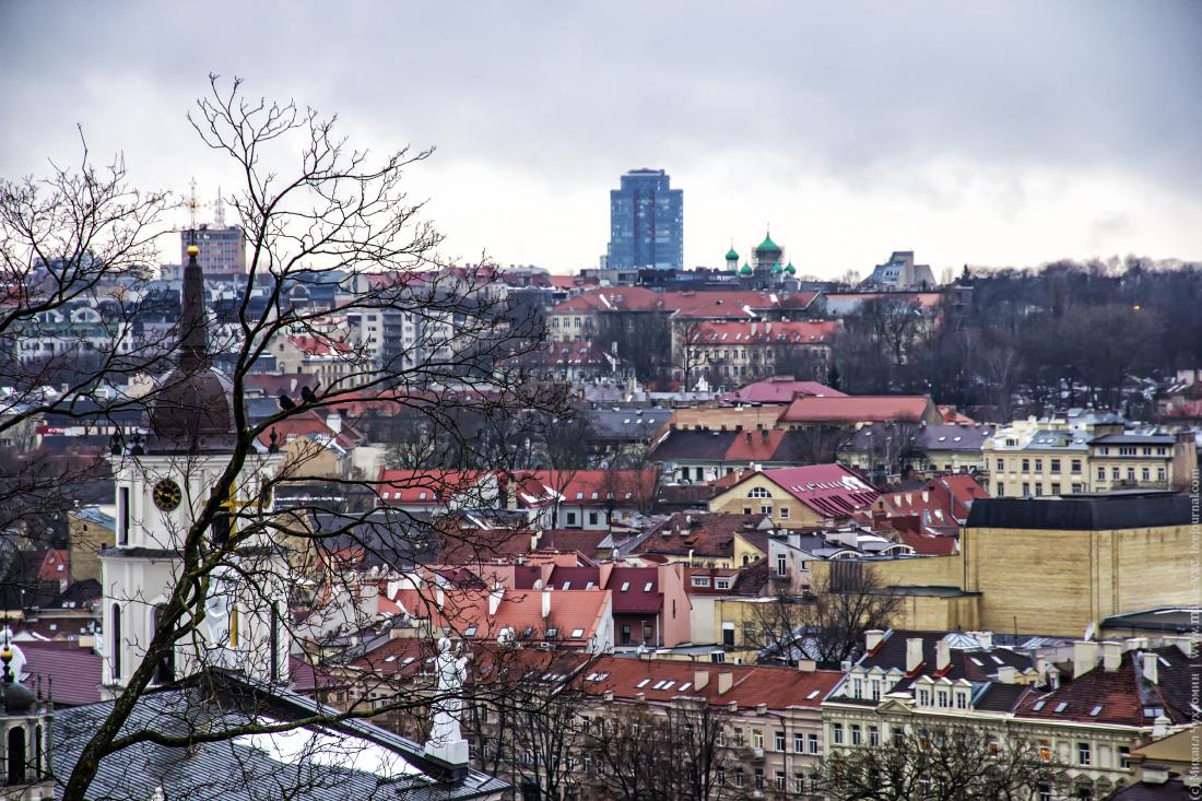 Обзорный вид на Вильнюс