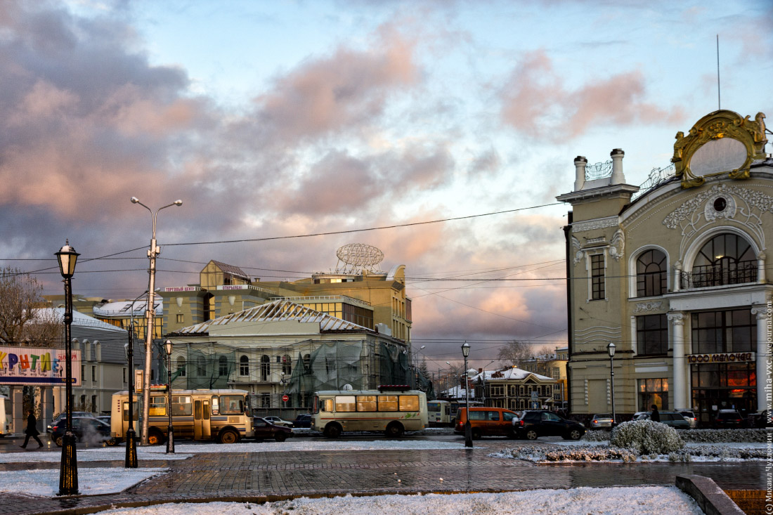 фонарный столб в Томске